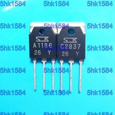 1pairs OR 2PCS SANKEN TO-3P 2SA1186-Y/2SC2837-Y 2SA1186/2SC2837 A1186/C2837