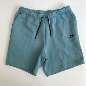 Nike Men XL Sportswear Tech Fleece Washed Shorts Pants Blue Black New 1343