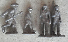 "Lot of 4 Vintage 1940s Lead Toy Soldiers 2 1/2"" Tall"