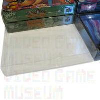 5 Custom Clear Plastic Box Protectors Case Sleeves for SNES N64 CIB Boxed Games