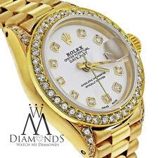 Original Rolex Presidential 18kt Gold White Diamond Dial For Ladies Watch
