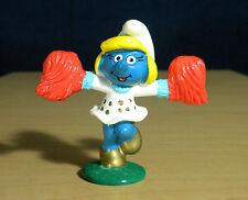 Smurfette McDonalds Cheerleader Smurf Vintage Figure Toy Promo Smurfs PVC 20149