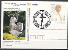 POLAND 2007 Postmark - Unveiling of the statue of Pope John Paul II in Lvov