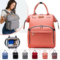 LEQUEEN Mummy Maternity Nappy Diaper Bag Baby Newborn Travel Backpack Tote CN