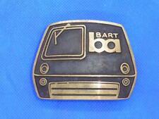 Vintage BART Bay Area Rapid Transport Brass Belt Buckle San Francisco Calif EUC