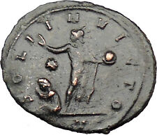 AURELIAN 274AD Milan mint ilvered Ancient Roman Coin Nude Sol Sun God i29701