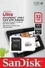 SanDisk Ultra 16GB 32GB 64GB 128GB Micro SD C10 SDXC Flash Memory TF Card Reader