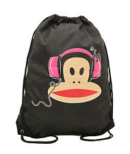 Paul Frank-Julius Monkey Cuffie Nylon Coulisse Palestra / Boot Bag-Nero