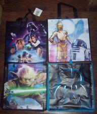 Lot of 48 Star Wars Bags Totes 12x13 Reusable Gift Bag Darth Vader Yoda C3PO R2D