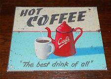 Retro Metal Tin Wall Plaque Sign / 15x20cm Coffee House Tea Room Cafe Latte