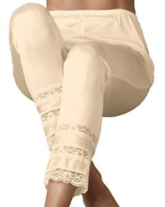"""Velrose Nylon 41"""" Long Pettipants with 3 Layer Lace (3500)"""