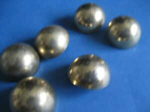 """6 Vintage Buttons    3/4"""" wide  Round Domed  Brass-colored"""