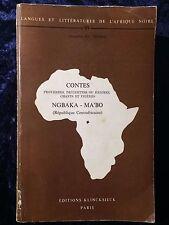 Contes proverbes devinettes énigmes chants prières Ngbaka-Ma'bo - Centrafrique