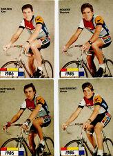 TOUR DE FRANCE CYCLISME 4 CARTES la vie claire 86  ERIKSEN  ROGERS  RUTTIMANN WI