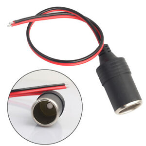 Car Cigarette Lighter Female Socket Adapter Plug 12V 24V Connector Cord Outlet