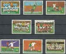 Timbres Sports Football Guinée équatoriale 1346/53 o Réf. Stampworld lot 28900