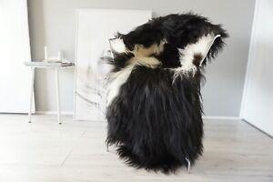 Genuine Rare Single Icelandic Sheepskin Rug | Natural Long Wool Rug | SI 557 us