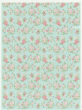 Rice Paper Vintage Shabby Roses for Decoupage Decopatch Scrapbook Craft Sheet