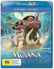 Moana Disney 3D Blu-Ray + 2D Blu-ray  - Region Free -  [New & Sealed]