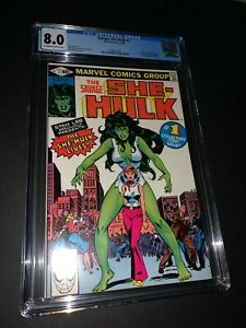 Savage She-Hulk #1 CGC 8.0 Would have been 9.6 if not for the