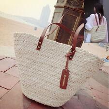 Fashion Women Summer Straw Beach Bag Tote Lady Shoulder Basket Shopping Handbag