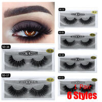 SKONHED 3D Mink Hair False Eyelashes Thick Cross Long Lashes Extension-Makeup/