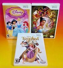 Disney Princess + Frog, Enchanted Journey, Tangled - Nintendo Wii / Wii U 3 Game