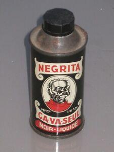 boite bidon ancienne produit negrita ca va seul cirage
