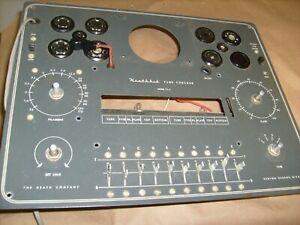 Original Heathkit TC-2 tube Tester original -  PARTS CHASSIS - CONTROL LOT