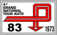 AUTOCOLLANT STICKER VINTAGE RALLYE 1973 TOUR DE FRANCE AUTO 40cmX23cm TB040