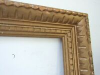 ANTIQUE  GREAT QUALITY HAND CARVED GILT FRAME FOR PAINTING  20  X 16  INCH