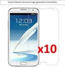 10x Samsung Note 2 Anti-Scratch Screen Protector w/ cloth