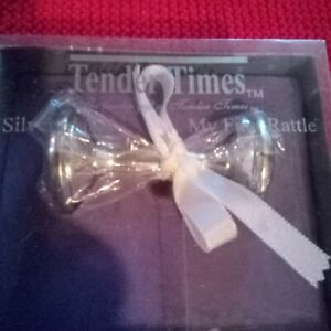 Vintage Tender Times Silver plated My First Rattle
