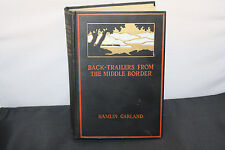 1928 1st Edition Back-Trailers From The Middle Border Hamlin Garland Signed Card