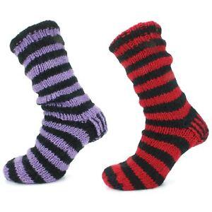 Wool Socks Chunky Knit Fleece Lined DENNIS MENACE Bed Slipper Winter Warm Boot