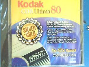 NEW SEALED = KODAK CDR ULTIMA 80 = CD-R  SILVER + GOLD = 700 MB