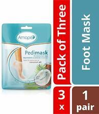 Amope Pedimask Foot Sock Mask, Coconut Oil, Rejuvenates - Soothes Feet 3 ea