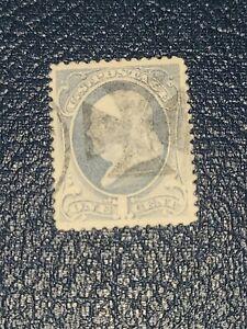 US Stamp Sc# 206 Benjamin Franklin Used Fancy Cancel Cross Beautiful Shape-#2461