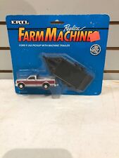 1/64 Ford F-250 Pickup With Machine Trailer By Ertl
