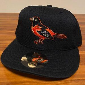 Baltimore Orioles Hat Baseball Cap Fitted 7 3/8 Black New Era Mesh BP MLB Retro