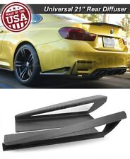 "21"" G3 Rear Bumper Lip Apron Wing Splitter Diffuser Canard w/ Vent For  Ford"