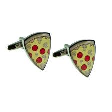 Pepperoni Pizza Slice Domed Design Cufflinks X2AJ444-001