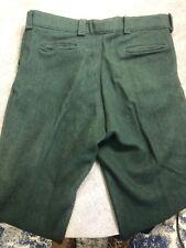 Vintage Green Heavyweight Winter Hunting Wool Blend Pants 42' Waist 31' Inseam