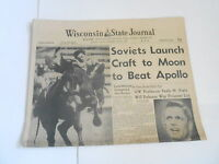 JULY 14 1969 WISCONSIN STATE JOURNAL newspaper section  SOVIET LAUNCH -APOLLO 11