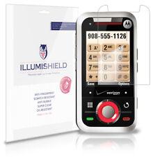iLLumiShield Phone Screen Protector w Anti-Bubble/Print 3x for Motorola Rival