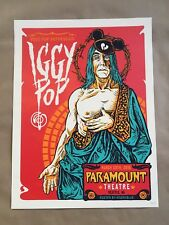 Iggy Pop Gig Poster Seattle 3/28/16 by Angryblue MINT (S/N #32/150)