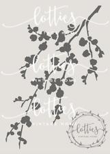 A5 STENCIL CHERRY BLOSSOM Furniture Fabric Vintage French SHABBY CHIC190 Mylar ❤