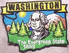 Embroidered USA State Patch Washington NEW montage
