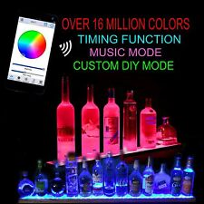 4' LIQUOR BOTTLE DISPLAY- IPHONE OR ANDROID CONTROL ADJUST COLOR BRIGHTNESS MODE