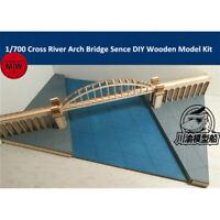 1/700 Cross River Arch Bridge Scene Platform DIY Wooden Assembly Model Kit CY709